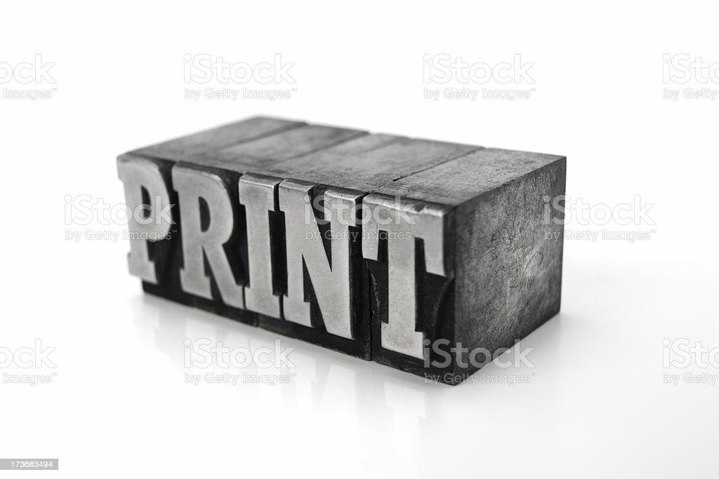 The word PRINT  - printing blocks royalty-free stock photo