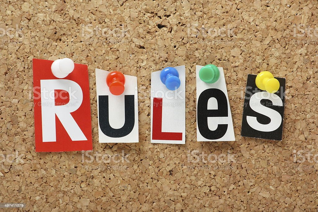 The word Rules stock photo