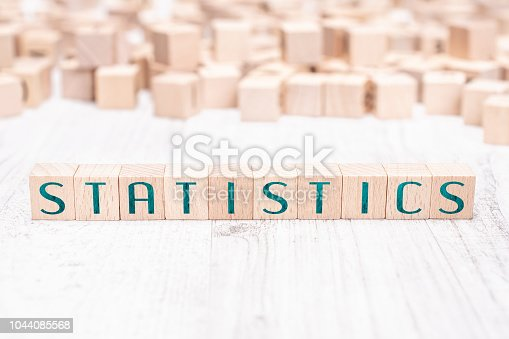 istock The Word Statistics Formed By Wooden Blocks On A White Table 1044085568