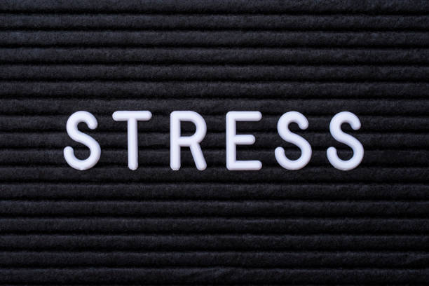 The word STRESS stock photo
