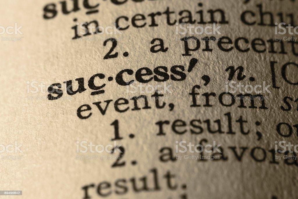 The word success as it appears in a dictionary royaltyfri bildbanksbilder