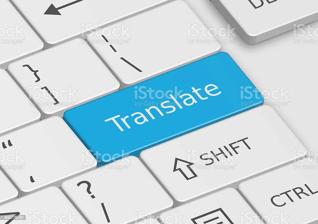 The word Translate written on the keyboard royalty-free stock photo