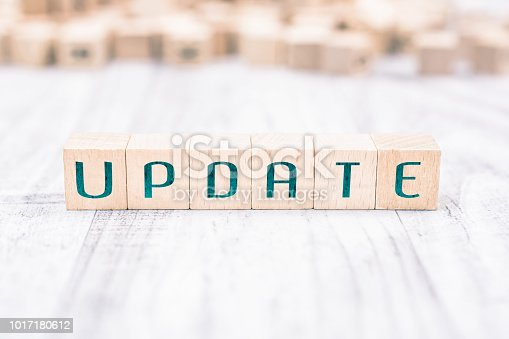 istock The Word Update Formed By Wooden Blocks On A White Table, Reminder Concept 1017180612