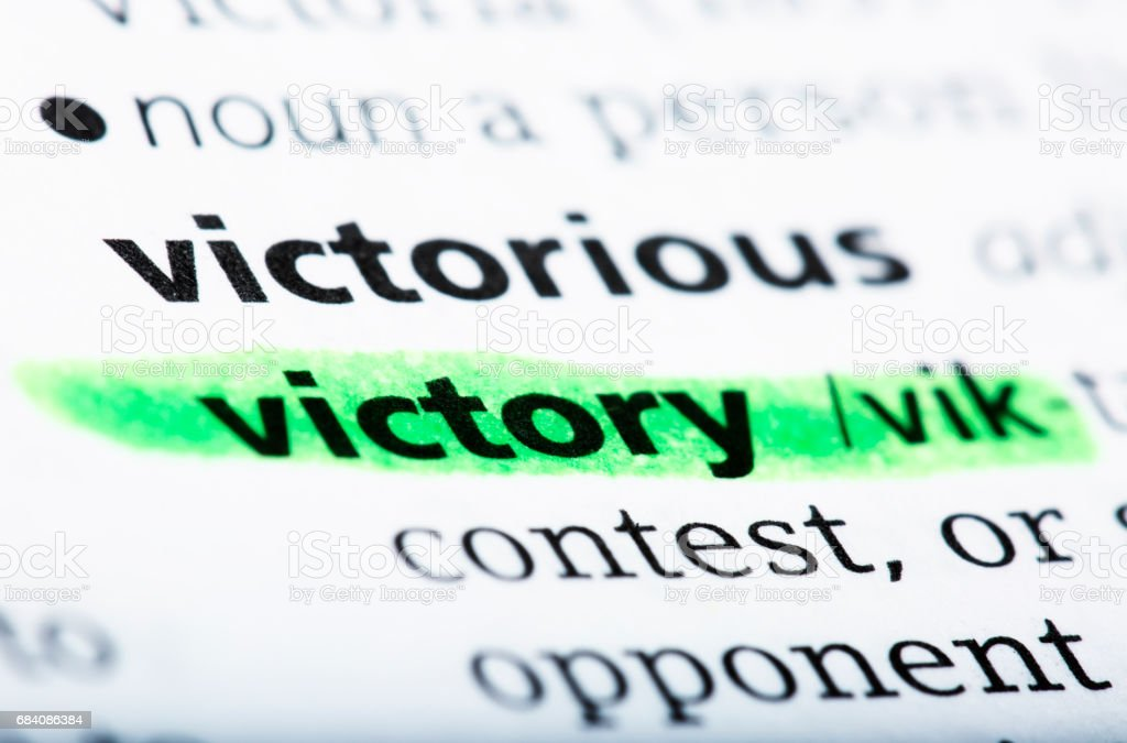 The Word Victory And Definition Printed In The English Dictionary