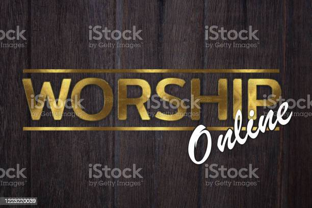 The word worship online concept written in gold texture on wooden picture id1223220039?b=1&k=6&m=1223220039&s=612x612&h=t kziyn7lb2 pippqx30zn09sv3c nlib8vmt7nprra=