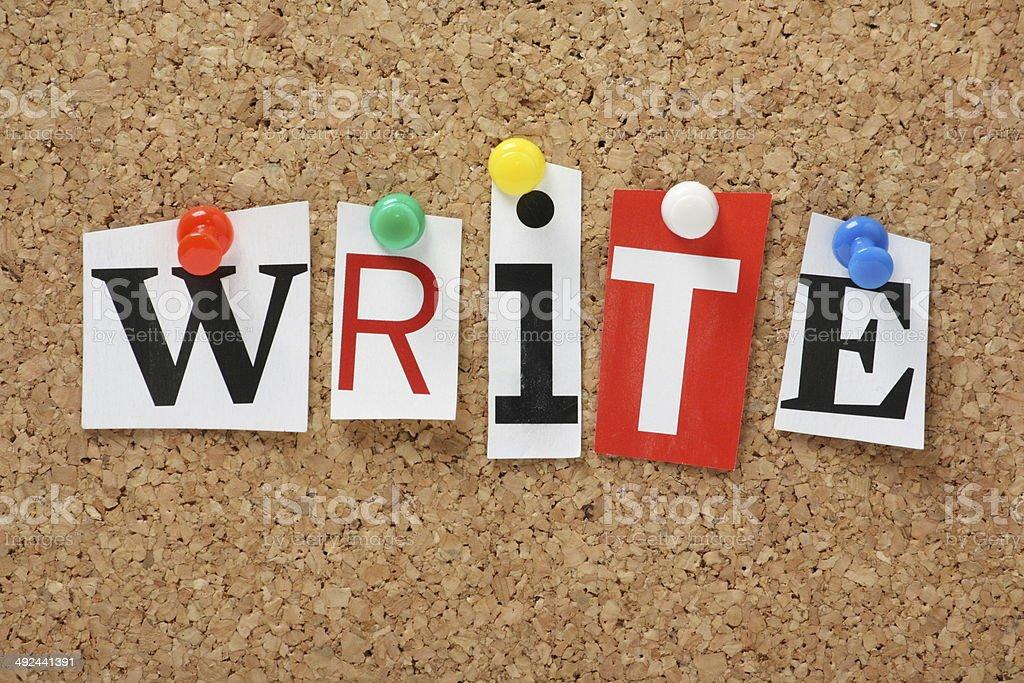 The word Write royalty-free stock photo