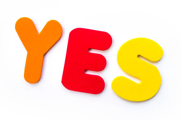 The Word YES stock photo