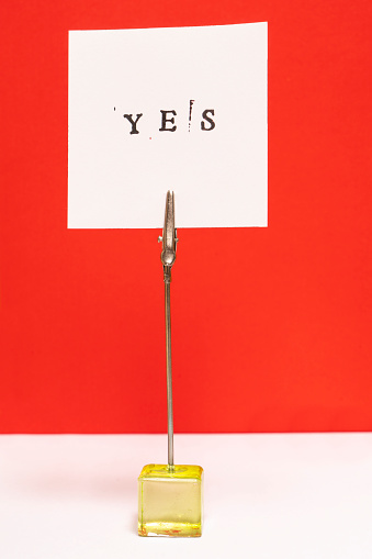 istock the word yes printed 1050665774