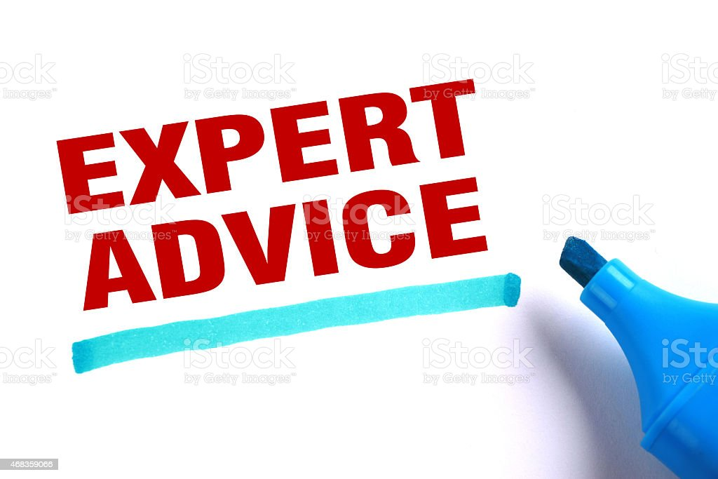The words expert advice written in red and underlined  royalty-free stock photo
