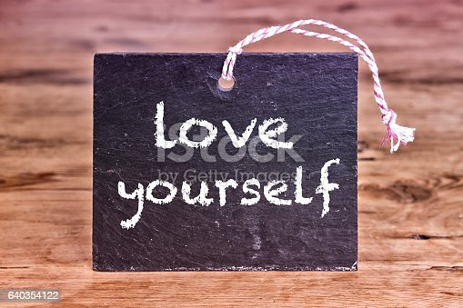 istock the words Love Yourself written on chalk board 640354122