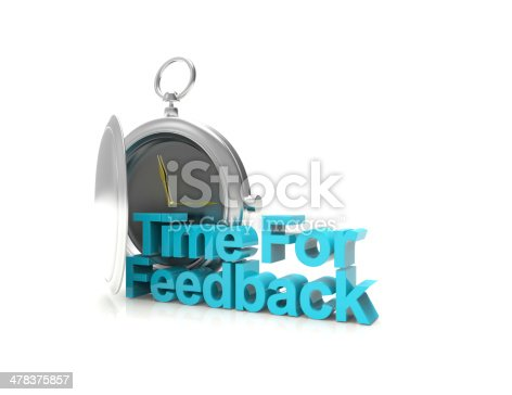 The words Time for Feedback