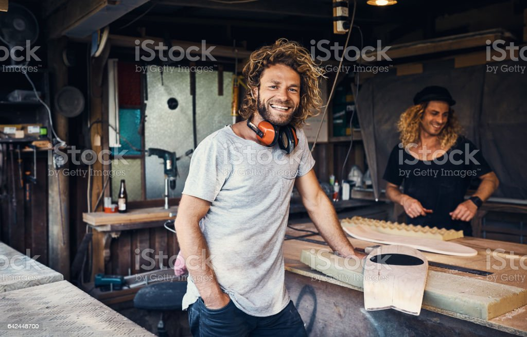 The workshop is our happy place stock photo