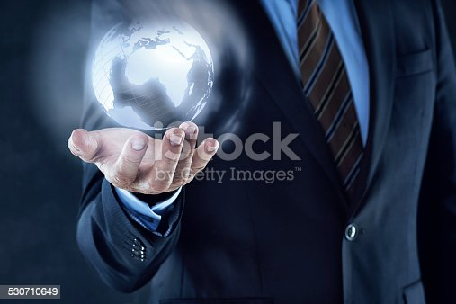 istock The world at his fingertips through technology 530710649