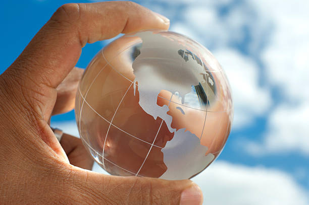 The world at your fingertips. Global business international trav stock photo