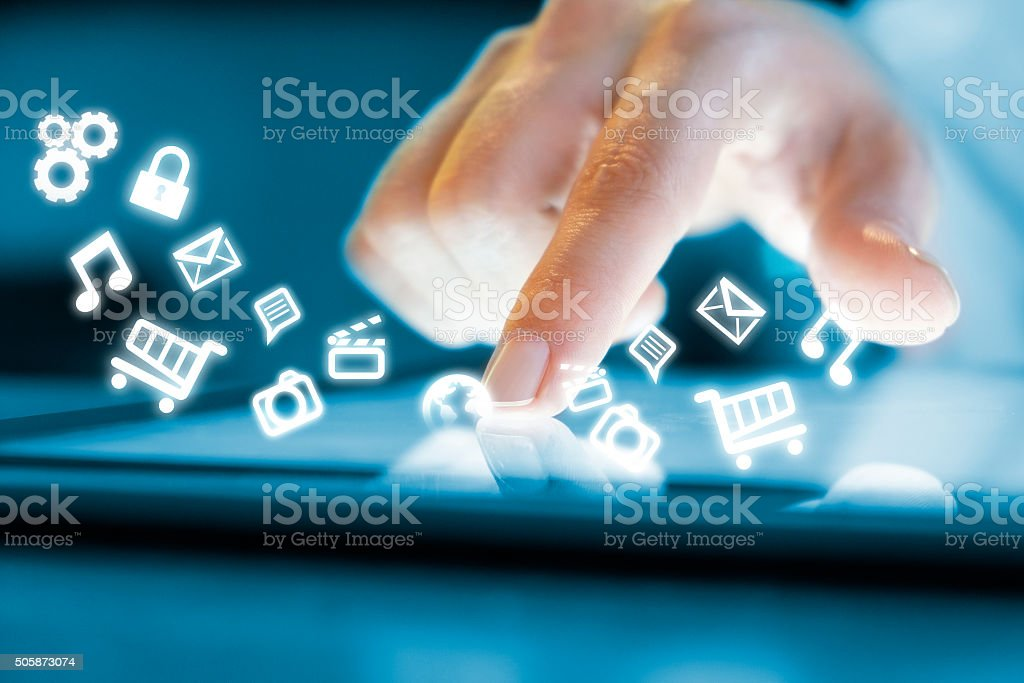 The World At Your Fingertips stock photo