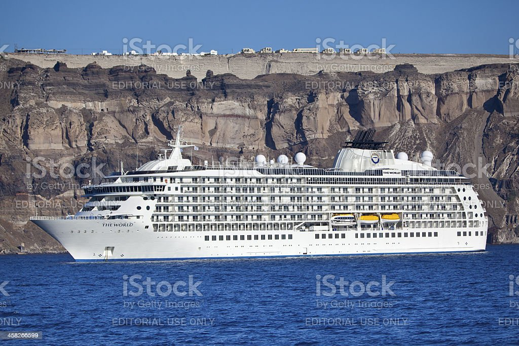 the world cruise ship stock photo