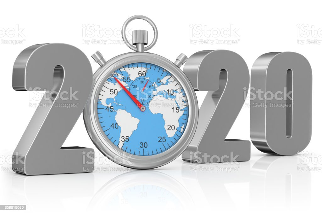 The World During 2020 year stock photo