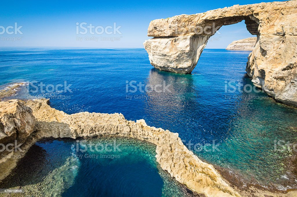 The world famous Azure Window in Gozo - Malta Island stock photo