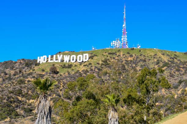 världs berömda landmärke hollywood sign - hollywood sign bildbanksfoton och bilder