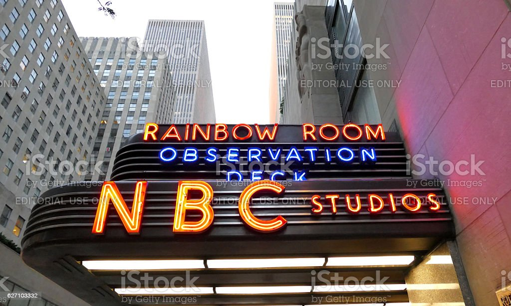 The world headquarters for NBC News stock photo