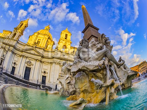Piazza Navona square in Rome Italy