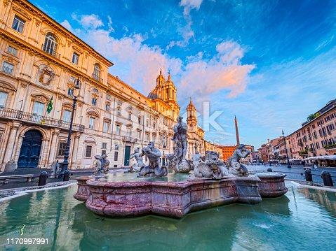 Piazza Navona square in Rome Italy