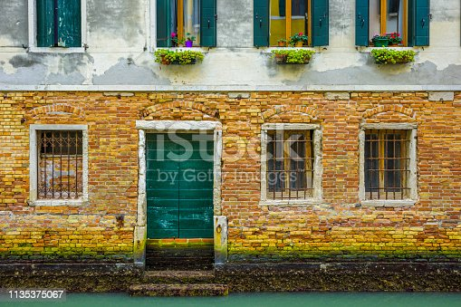 Rustic windows found along the alleyways of Venice