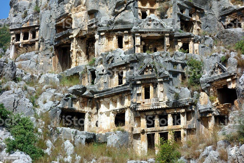 The World heritage site Myra, Lycia, Turkey stock photo