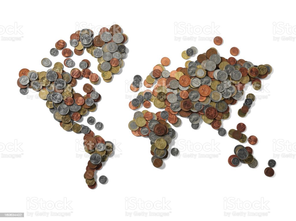 The World in Money royalty-free stock photo