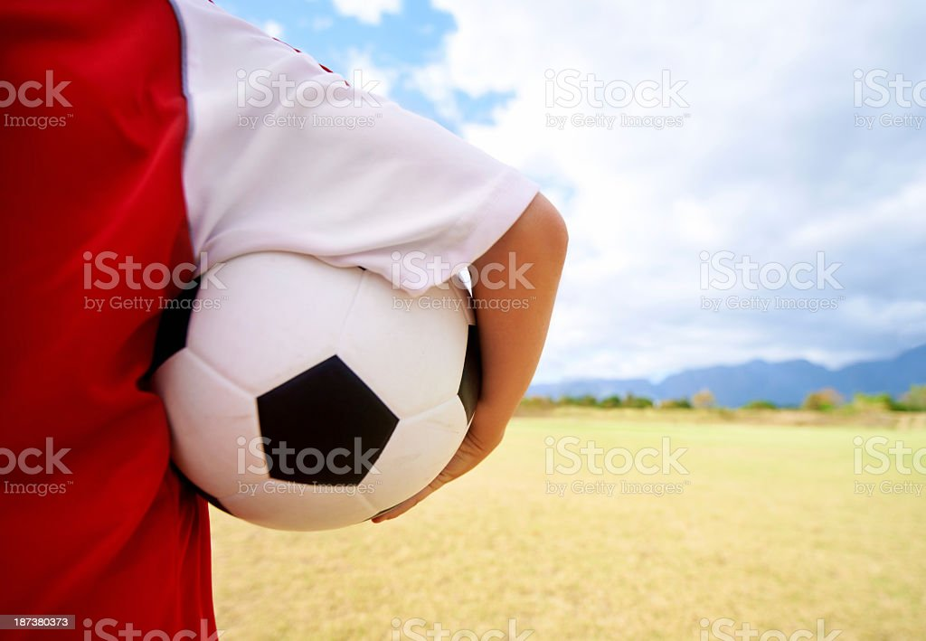 The world is his playing field royalty-free stock photo