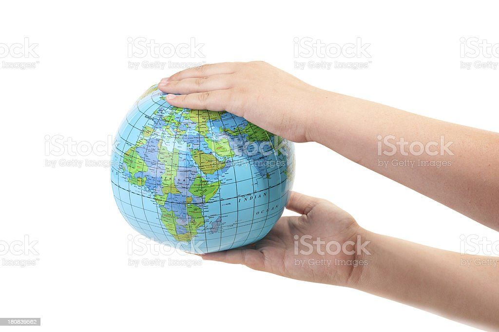 'The world is in your hands' royalty-free stock photo