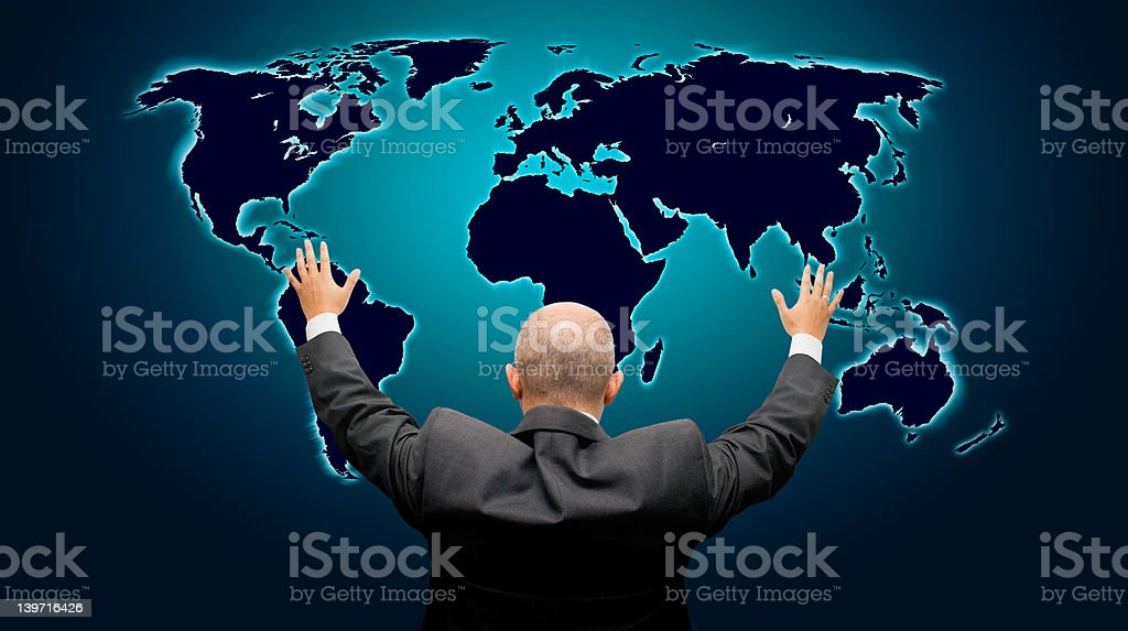 The world is mine - back version stock photo