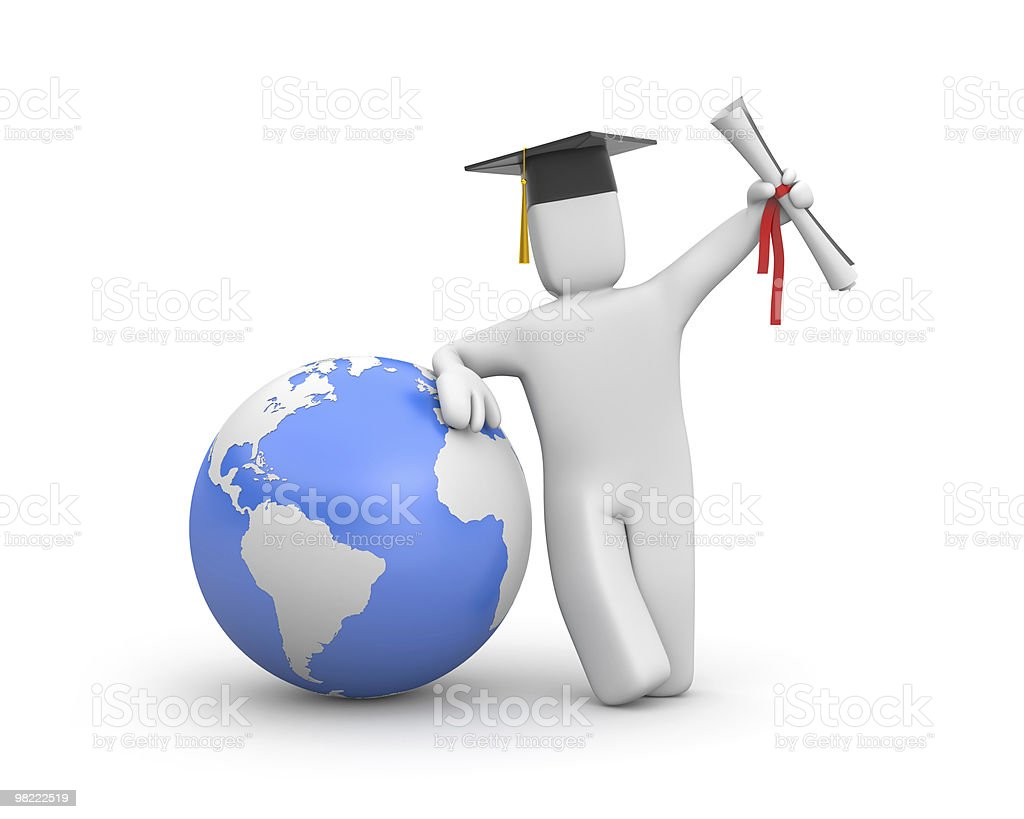 The world is opened for you. Graduate royalty-free stock photo