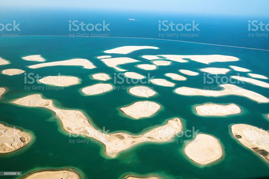 The World island in Dubai stock photo