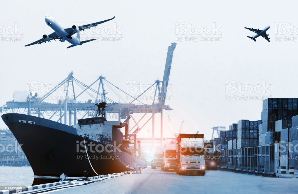 The World Logistics Background Or Transportation Industry Or Shipping  Business Container Cargo Shipment Truck Delivery Airplane Import Export  Concept Stock Photo - Download Image Now - iStock