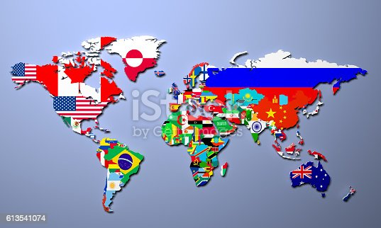 The world map with all states and their flags stock photo istock gumiabroncs Images
