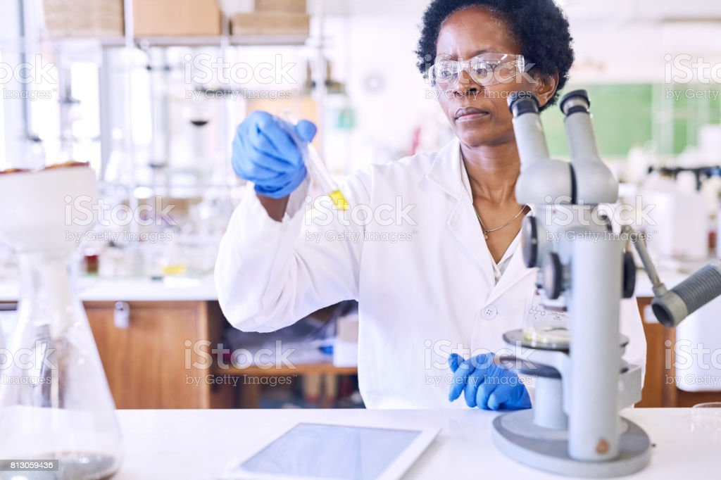 The world of science is filled with curiosity stock photo