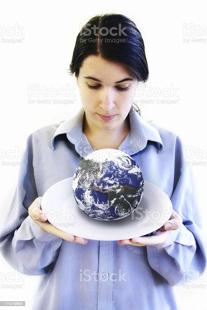 The World on a Platter royalty-free stock photo