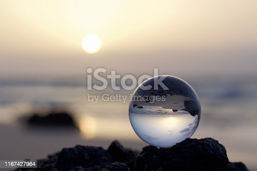 Picture taken with a lensball on the beach of Fuerteventura, a magnificent island!