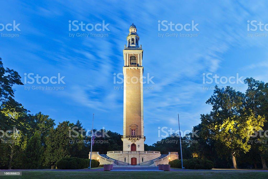 The World War I Memorial Carillon In Richmond, Virginia stock photo