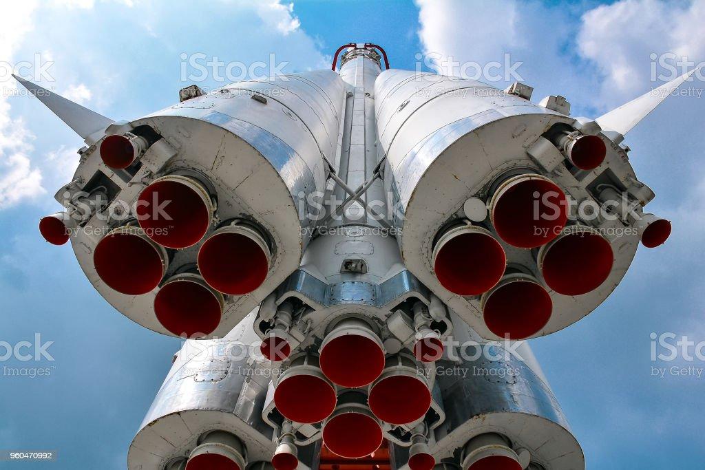 Die erste bemannte Rakete auf einer Ausstellung in Moskau, Russland – Foto