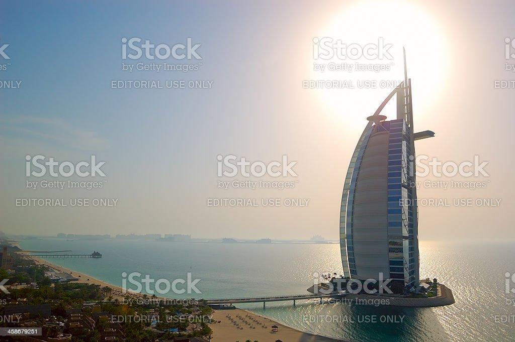 The world's first seven stars luxury hotel Burj Al Arab stock photo