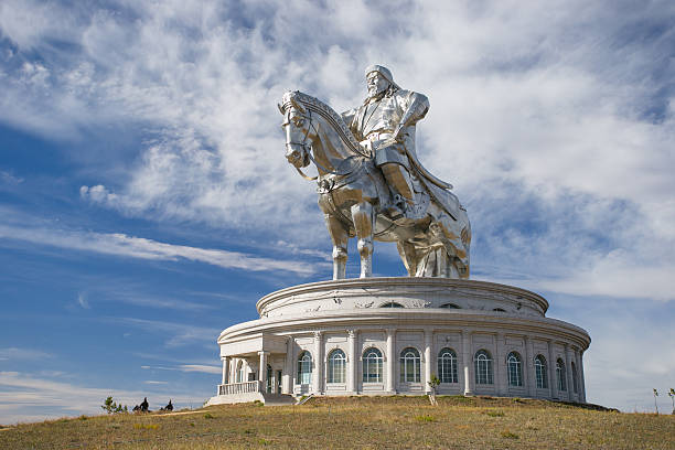 The world's largest statue of Genghis Khan The world's largest equestrian statue. The leader of Mongolia, Genghis Khan. independent mongolia stock pictures, royalty-free photos & images