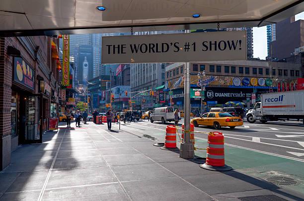 the world's show №1 mamma mia on broadway, ny city - mamma mia stock photos and pictures