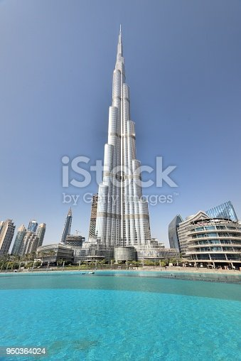 Dubai, UAE - January 2017:The worlds tallest building