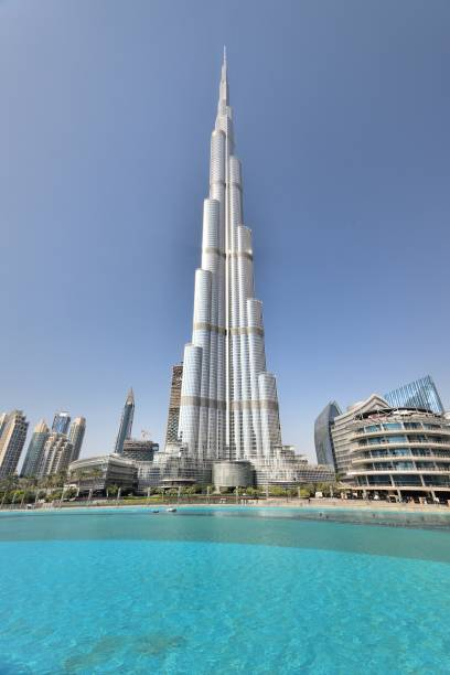 The worlds tallest building Dubai, UAE - January 2017:The worlds tallest building burj khalifa stock pictures, royalty-free photos & images