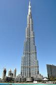 DUBAI,UAE - MARCH 10,2012:The world's tallest modern building, Burj Khalif