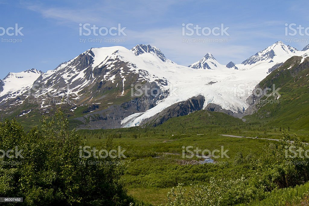 The Worthington Glacier stock photo