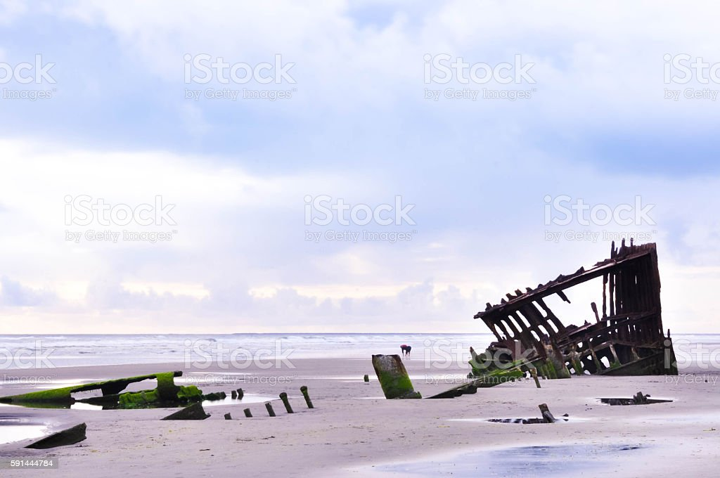 The Wreck of the Peter Iredale stock photo