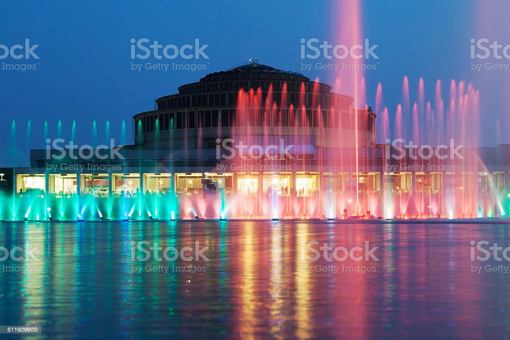The Wroclaw Fountain stock photo